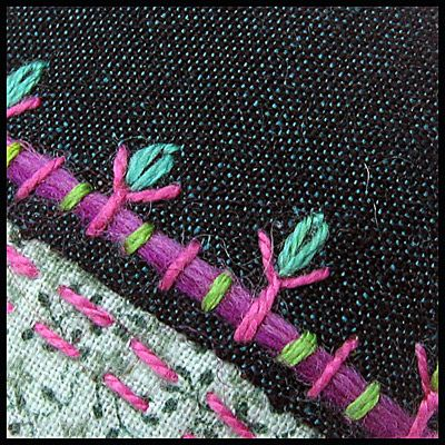 Embroidery details by Birthine, via Flickr