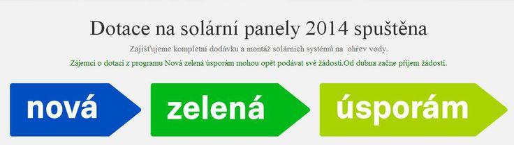 Pomůžeme Vám se získáním dotací z programu Nová Zelená úsporám. http://solarnisystemynaohrevvody.cz/zelena-usporam