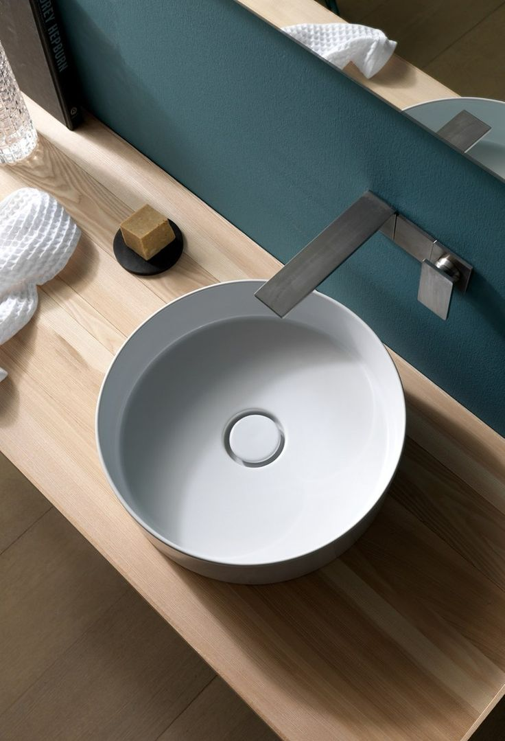 130 best images about lavabi on Pinterest | Get started, Vanities ... - Countertop round ceramic washbasin ICON CIRCLE - Alice Ceramica