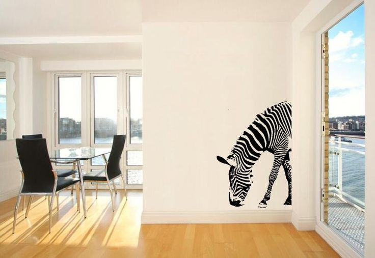Half zebra wall sticker