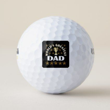 worlds-greatest-dad golf balls - occasion gifts gift idea diy