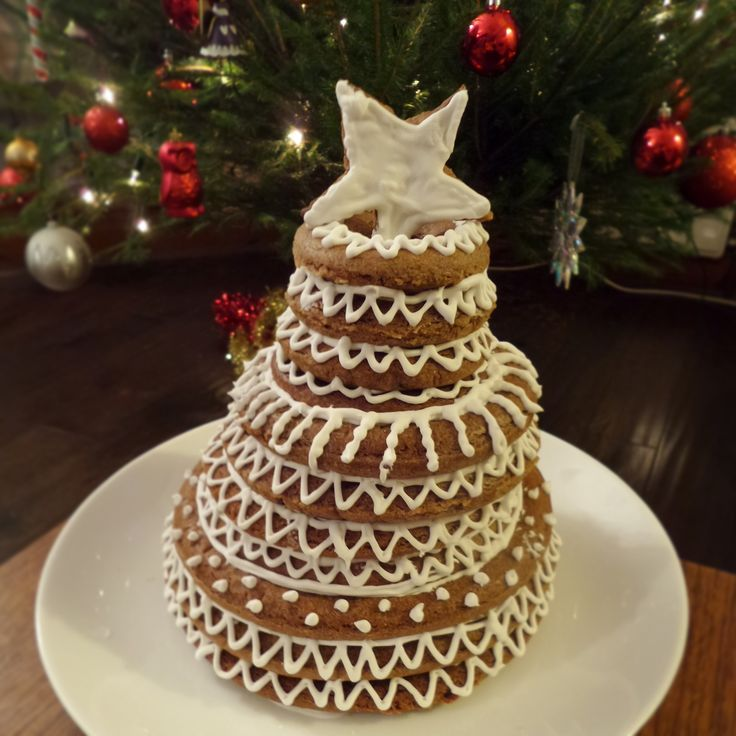 68. Speculoos Kransekake Christmas Tree Cake Norwegian