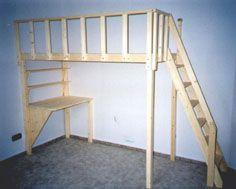 Hochbett 200 x 100 mit integriertem Schreibtisch
