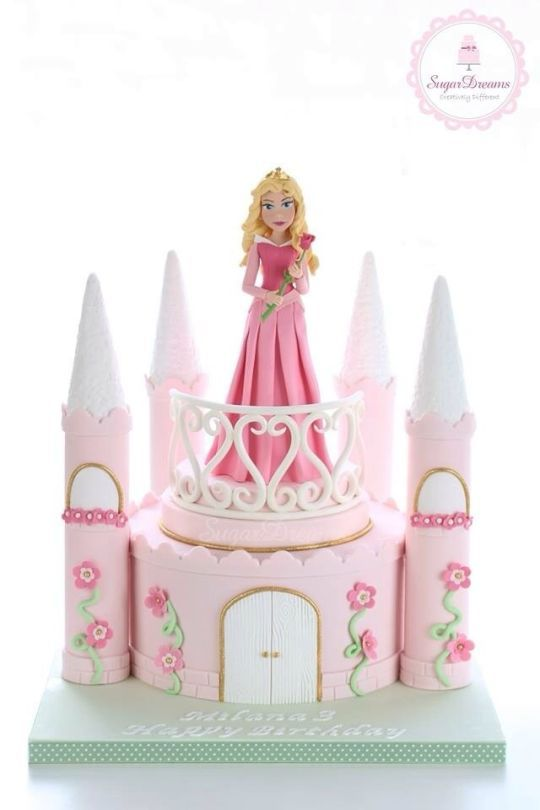 Sleeping Beauty ~ castle cake                                                                                                                                                     More