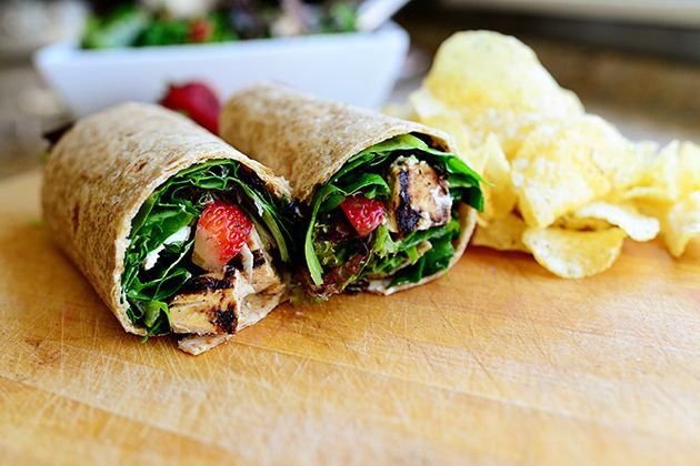 131 best sandwich and wrap recipes images by the food channel on grilled chicken strawberry salad wrap forumfinder Images