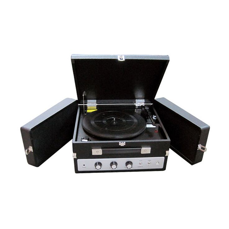 Classical Vinyl Turntable Record Player With PC Encoding, iPod Player, AUX Input & Dual Fold-Out Speaker System