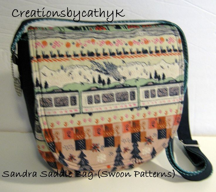 Hand Crafted Sandra(Swoon pattern) Saddle Cross Body  bag. Yarn dyed essex linen and quilters cotton.Interior slip and zippered pockets by CreationsbycathyK on Etsy