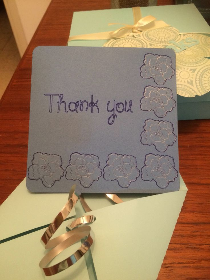 Sketched thank you card