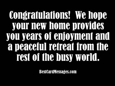 New House Card Messages: Congratulations on Your New Home - Best Card Messages