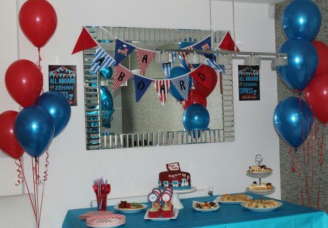Train theme birthday party