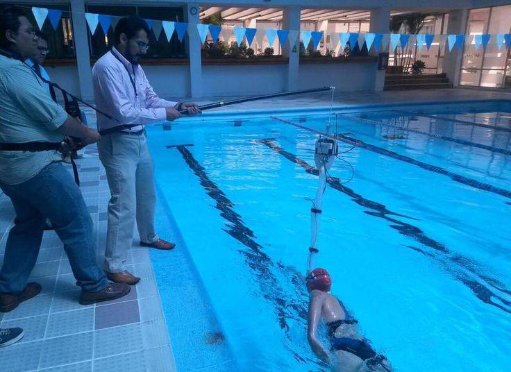 K4b2+Aquatrainer snorkel on open water swimmers at Ministerio del Deporte Quito- Ecuador