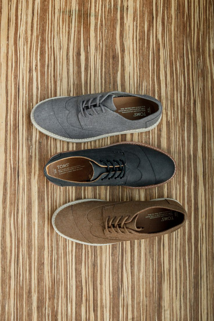 Dress up in men's TOMS Brogues.