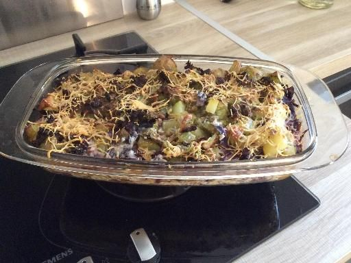 Gratin de chou rouge - Recette de cuisine Marmiton : une recette