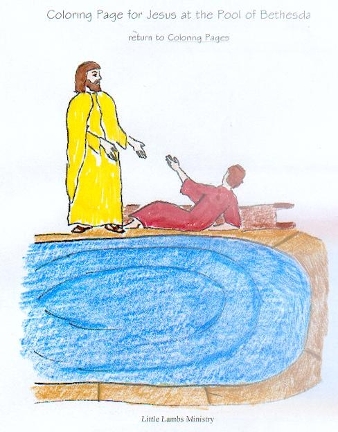 418 best miracles of jesus images on pinterest school for Healing at the pool of bethesda coloring page