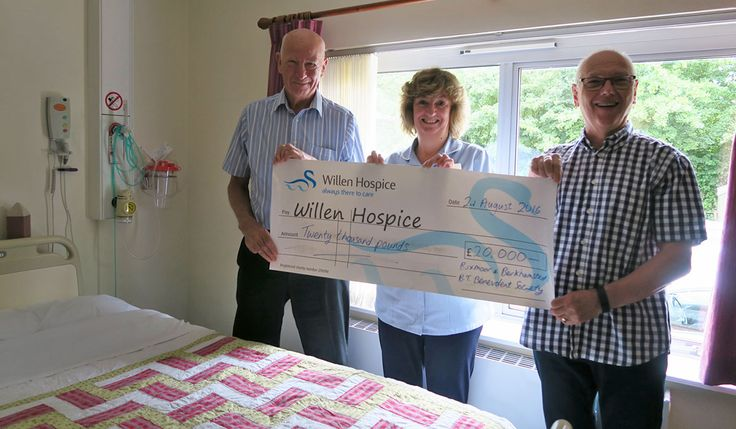 A big THANK YOU to Berkhamsted & Boxmoor (BT) Benevolent Society who have donated a whopping £20,000 to Willen Hospice to go towards new beds, mattresses and bedding for our patients.