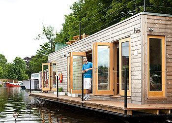 Get closer to nature with a floating eco-home on the Thames   My home   Your home & garden   Homes & Property