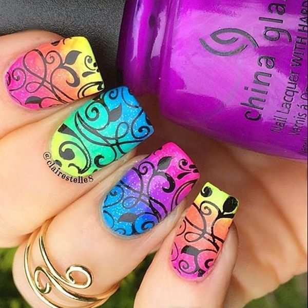 45 Splendid Summer Nail art and Colors to try in 2017