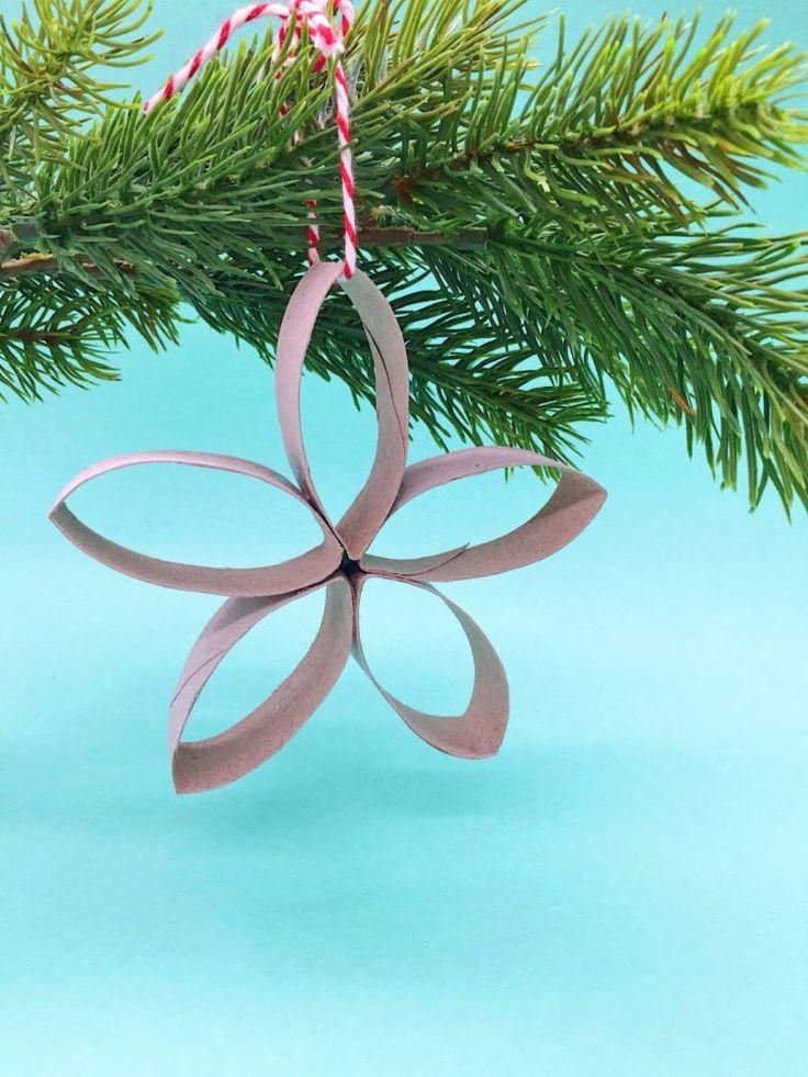 weihnachtsdeko basteln sterne aus klopapierrollen mit video weihnachten pinterest. Black Bedroom Furniture Sets. Home Design Ideas