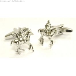Horse Mounted Polo Player Cufflinks