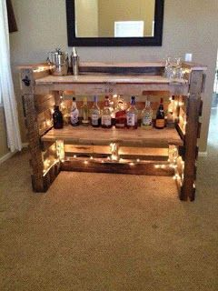 Small Bar Made From Pallets    ----   #pallets  #palletproject