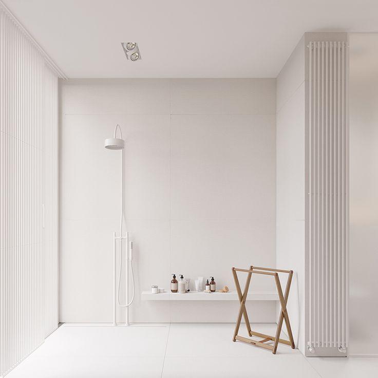 Bright minimalist home with light wood accents minimalist interior design is by igor sirotov