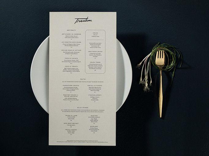 trentina - Restaurant Menu Design Ideas