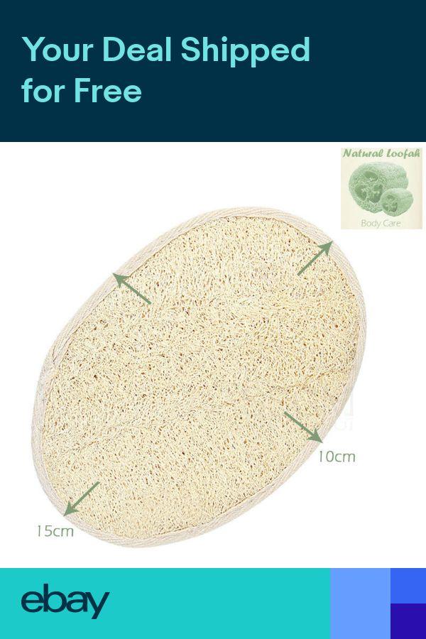Natural Loofah Luffa Sponge Pad Body Skin Exfoliation Scrubber Bath Shower Brush