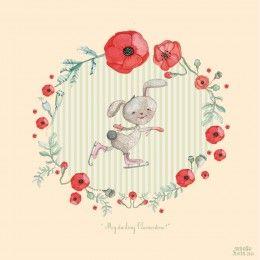 My Darling Clementine ! « Vibeke Høie illustrations #illustration #rabbit #watercolour #drawing #vibekehoie