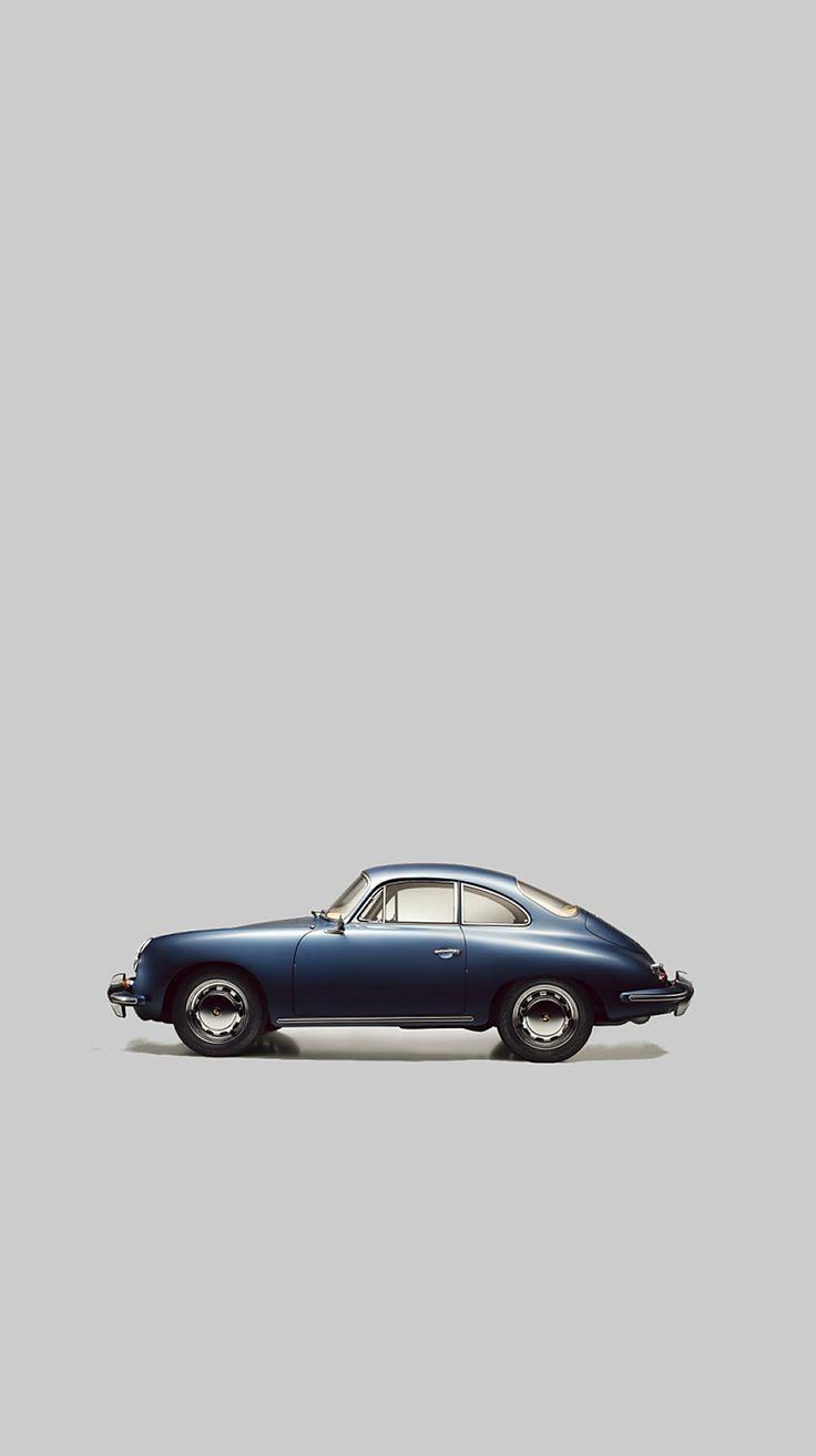 青いクラシックカー iPhone6壁紙