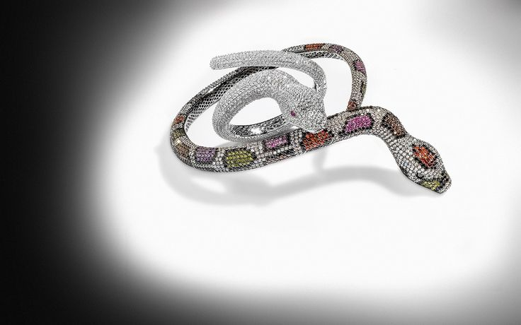 #Snakes #Jewel collection. Love these #Silver zircons necklace and bracelet.