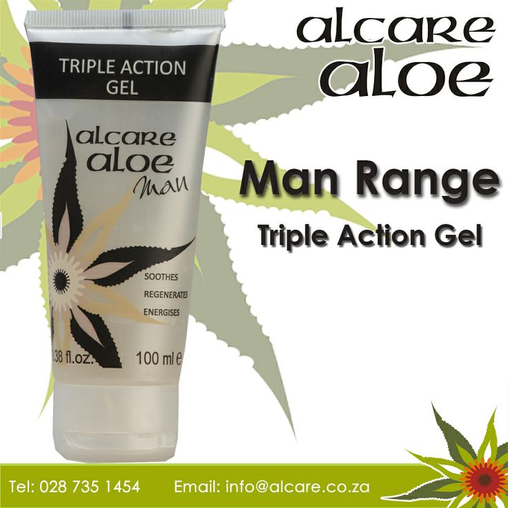 Alcare Aloe now have a range for range for Men Triple Action Gel. Aloe ferox is harvested in the wild in an ecologically friendly way. Order online: http://on.fb.me/1fJVdeb #men #range #gel