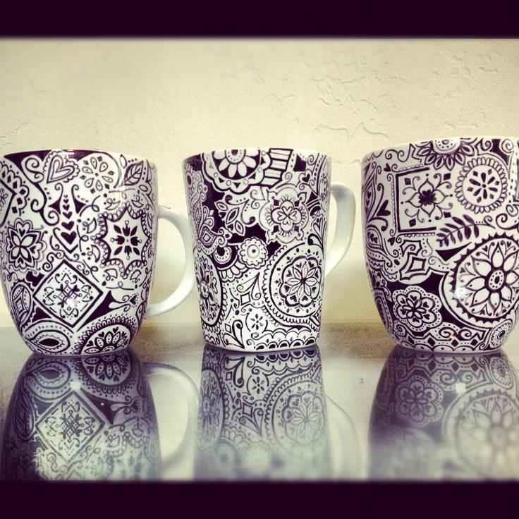 Zentangle, Krus Og Porcelæn