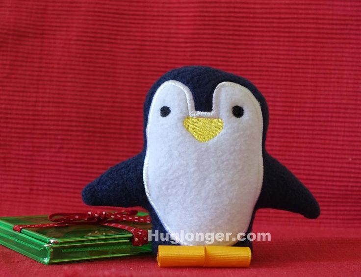 (10) Name: 'Embroidery : ITH Penguin Stuffie embroidery file