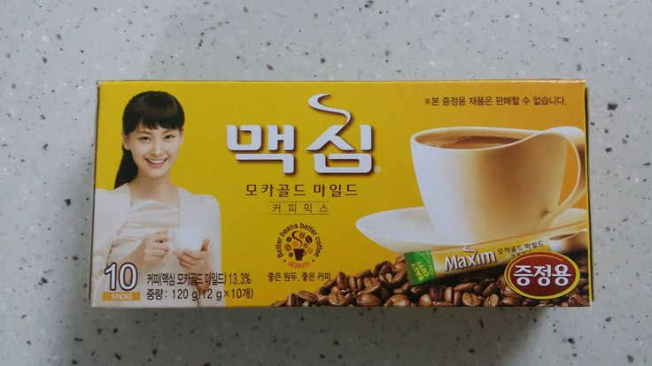 Korean Maxim Mocha Gold Mild Instant Coffee Mix 10sticks Gift Package Good taste #MaximMochaGoldMild
