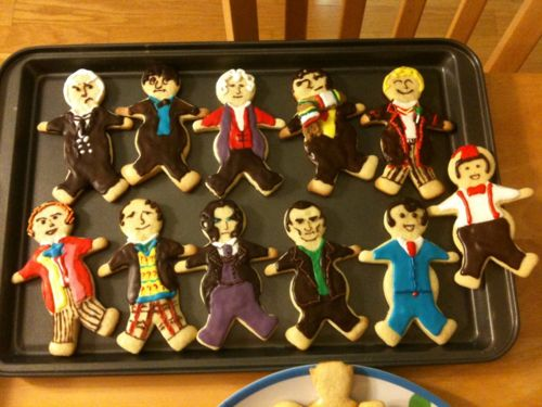 Doctor Who cookies made by Wendy and Ali!