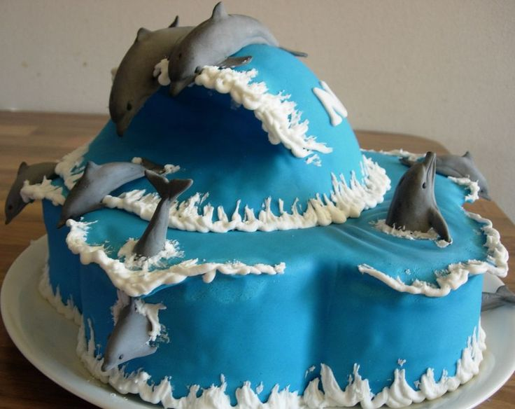 Dolphin Birthday cake for our 8 year old daughter. Proud of the 7 likes on Cake Central. :D