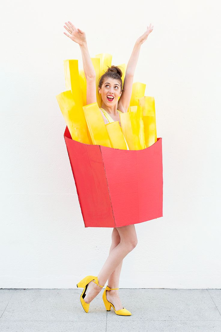 Whoop Whoop! Get your diy on for Halloween with this box of fries costume!