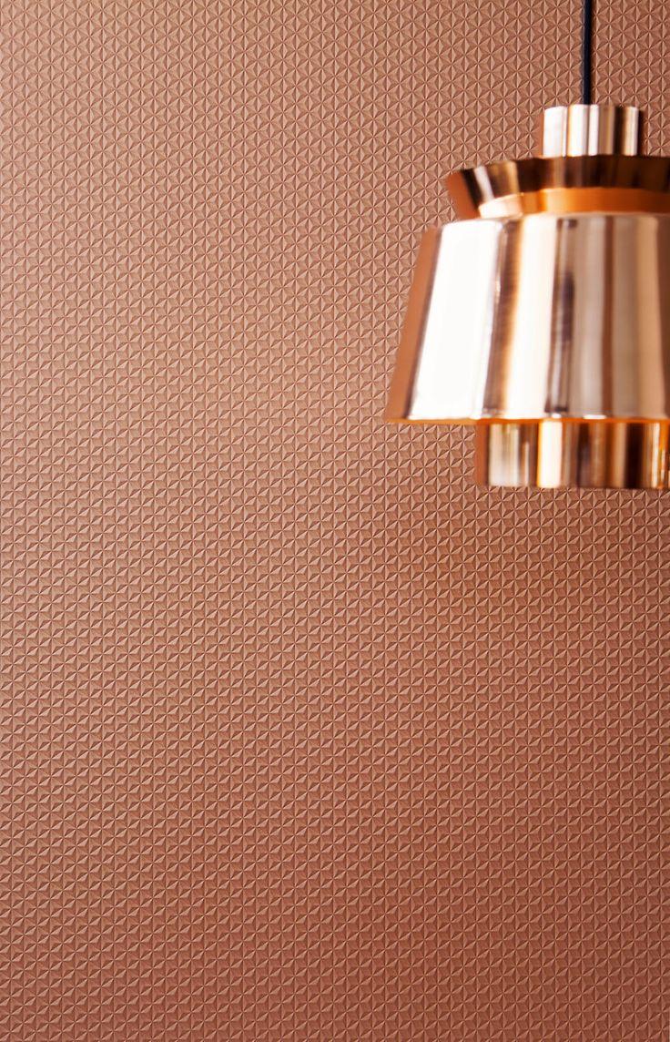 Rood koper 3D Behang / Red copper 3D Wallpaper collection Moods - BN Wallcoverings
