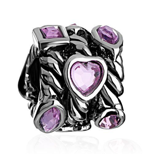 Valentines Day Gifts Pugster Heart Love Pink Swarovski Crystal Charm Beads Fit Pandora Charm Bead Bracelet Pugster. $12.49. Unthreaded European story bracelet design. Free Jewerly Box. Pugster are adding new designs all the time. Fit Pandora, Biagi, and Chamilia Charm Bead Bracelets. Money-back Satisfaction Guarantee