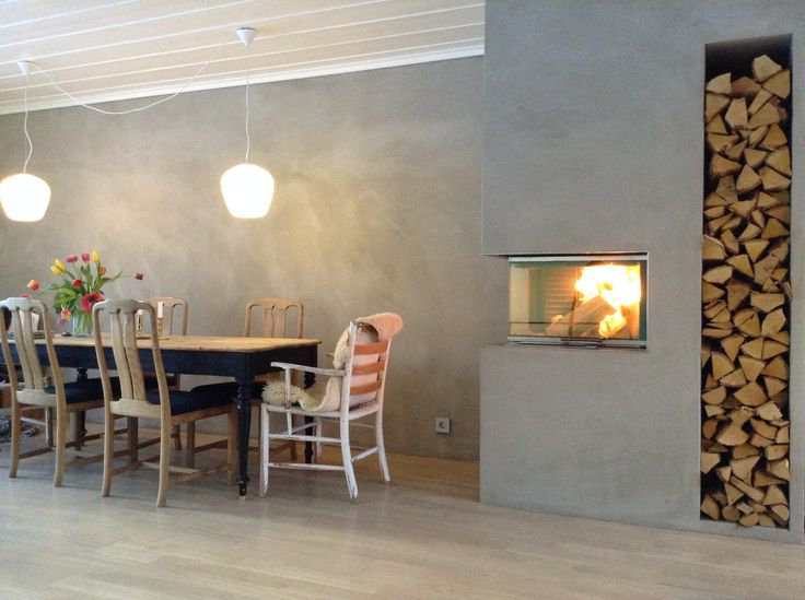 If your style is #modern #NewNordic or you just love open fire and the warmth? Then have a look at the #Visio #fireplace from #RAIS. #Brændeovn #OpenFire