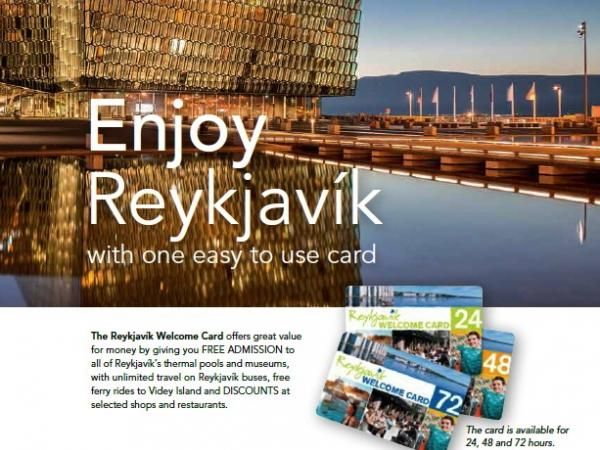 Reykjavik Welcome Card. Discounts at shops, museums, & restaurants, free admission to museums & public geothermal pools, and unlimited use of city buses.