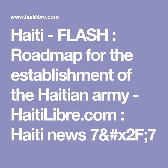 Haiti - FLASH : Roadmap for the establishment of the Haitian army - HaitiLibre.com : Haiti news 7/7