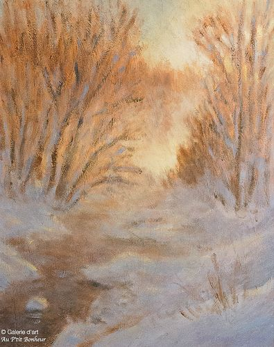 Stéphane Gagnon, 'Une douce fraîcheur s'installe', 11'' x 14''   Galerie d'art - Au P'tit Bonheur - Art Gallery