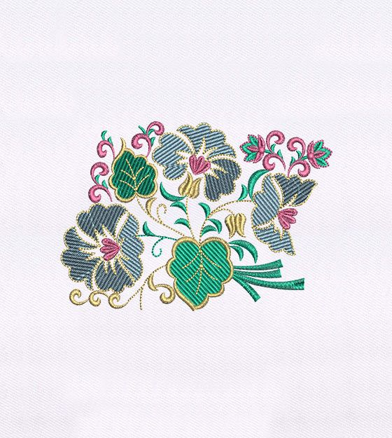 How would you rate this Colorful Leaves and Flower Embroidery Design?
