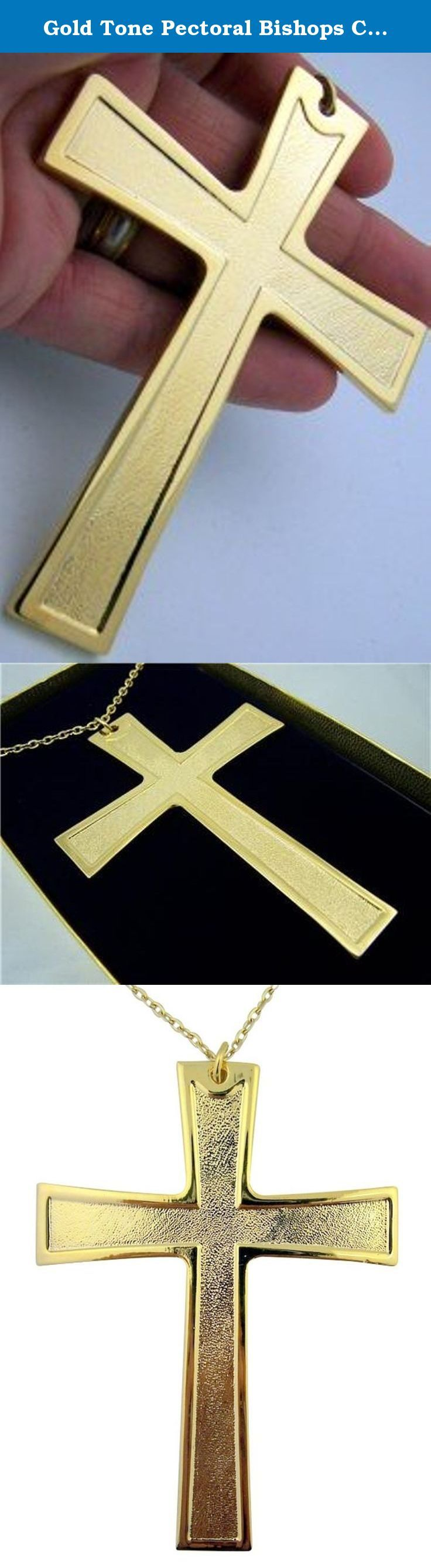 Gold Tone Pectoral Bishops Clergy Cross on Chain Necklace, 4 1/4 Inch. The Crucifix is a cross with the Body of Christ, an ancient symbol used within the Catholic, Eastern Orthodox, Anglican and Lutheran churches.