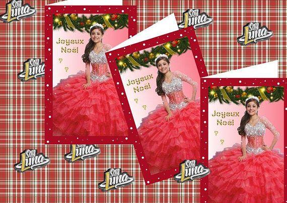 Carte de Noël Soy Luna en téléchargement immédiat Comprend un pdf que vous pourrez imprimer autant de fois que vous le souhaitez