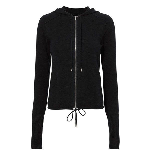 Helmut Lang Women's Navy Cashmere Hoodie ($595) ❤ liked on Polyvore featuring tops, hoodies, navy, cashmere zip front hoodie, zip front hooded sweatshirt, navy blue top, cashmere hoodies and navy hoodie
