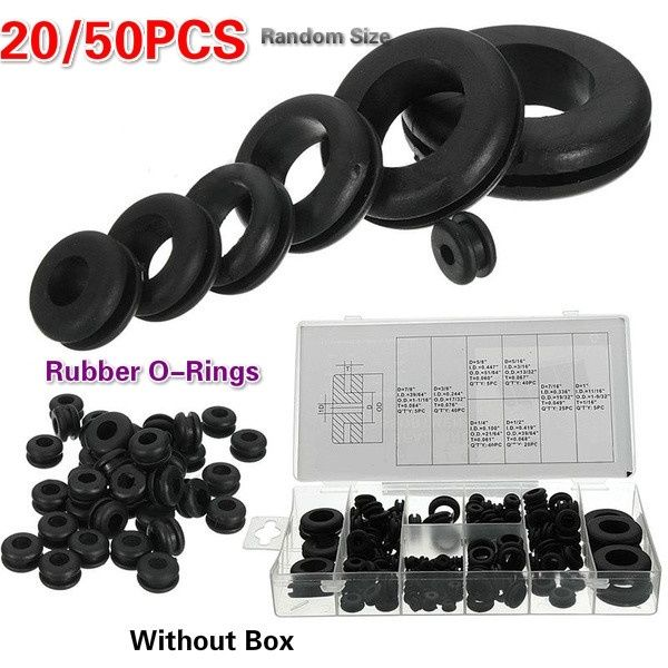 20 50pcs Double Side Rubber Sealing Grommet Hole Plug Retainin Gasket Ring For Protects Wire Cable Rubber Seal Assortment Set