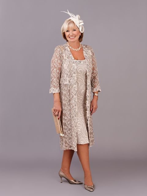This classic Ann Balon dress has a stretch lace fabric material paired with a lace coat. The name of the outfit is Antida and has been designed in a Caffe Latte shade of colour.  View more Mother of the Bride and Mother of the Groom dresses from our Ann Balon collection at: http://www.baroqueboutique.co.uk/mother-of-the-bride-south-wales/  Photographs courtesy of: http://www.annbalon.com/