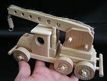 Kran LKW Holz-spielzeug